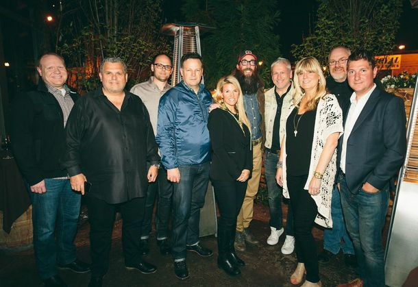 Greg Bays (Executive Vice President, Capitol Christian Distribution), Peter York (President, Capitol Christian Music Group), David Sylvester (Vice President of Marketing, Capitol CMG Label Group), Brad O'Donnell (Vice President of A&R, Capitol CMG Label Group), Toni Crowder, David Crowder, Louie Giglio (Visionary Architect and Director of the Passion Movement), Shelley Giglio (Chief Strategist, sixstepsrecords), Grant Hubbard (Vice President of Marketing, Capitol CMG Label Group), Mike McCloskey (Artist Development & Management, sixstepsrecords)  Photo Credit: Matthew Simmons