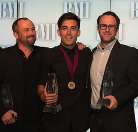 (L to R) Pete Kipley, Phil Wickham and Mark Nicholas at last week's BMI Christian Awards. Photo Courtesy of BMI