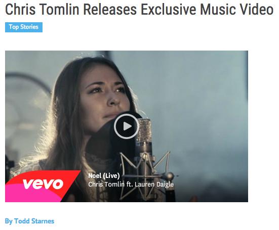Lauren Daigle Christmas.Foxnews Com Exclusively Premieres Chris Tomlin S Noel Feat