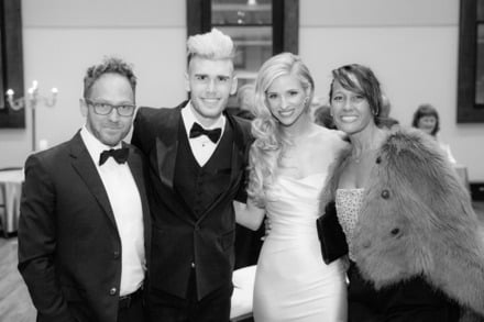 Left to right: TobyMac, Colton Dixon, Annie Dixon and Amanda McKeehan, Photo Credit: David Molnar