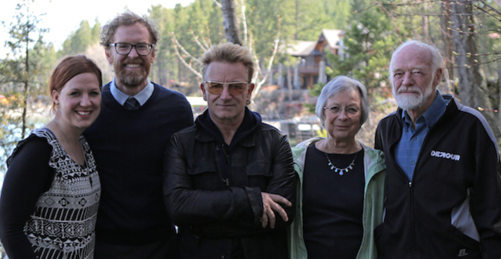 From Left to Right: Phaedra Jean Taylor, David Taylor, Bono, Jan Peterson, Eugene Peterson Photographs by Taylor   Martyn and   Phaedra Jean Taylor