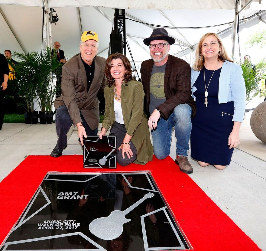Photo left to right: John Huie, Amy Grant, Bart Millard, Nashville Mayor Megan Barry Photo credit: Donn Jones