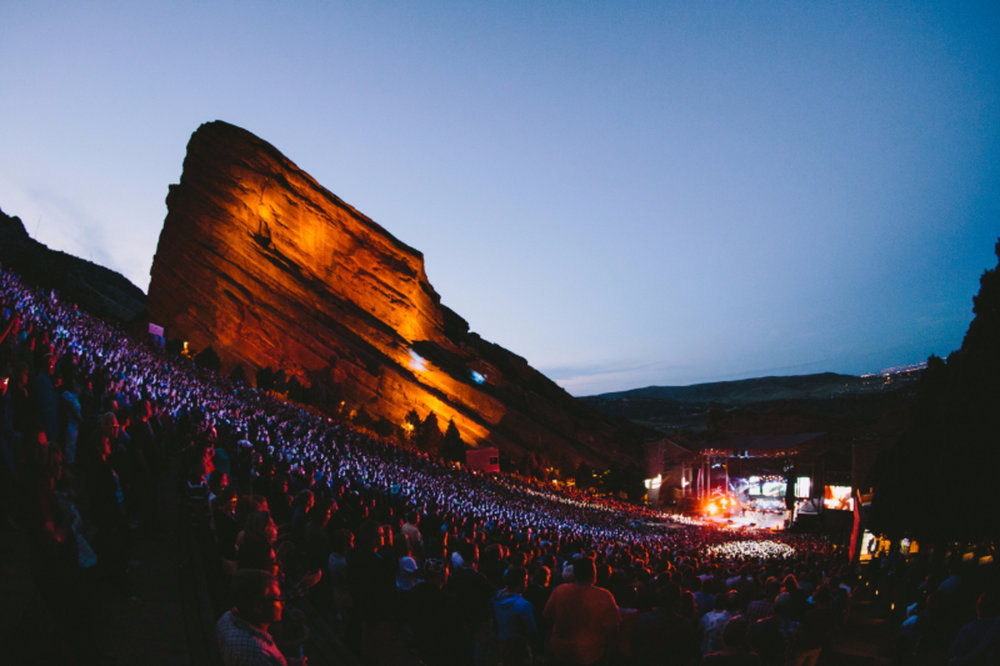 Tomlin leads thousands in worship at Red Rocks Amphitheater in 2015
