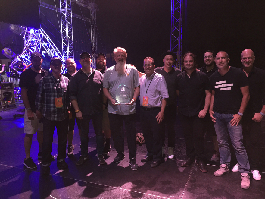 BrickHouse Entertainment Owner & President Scott Brickell with MercyMe and crew at Disney's Night of Joy 2017.