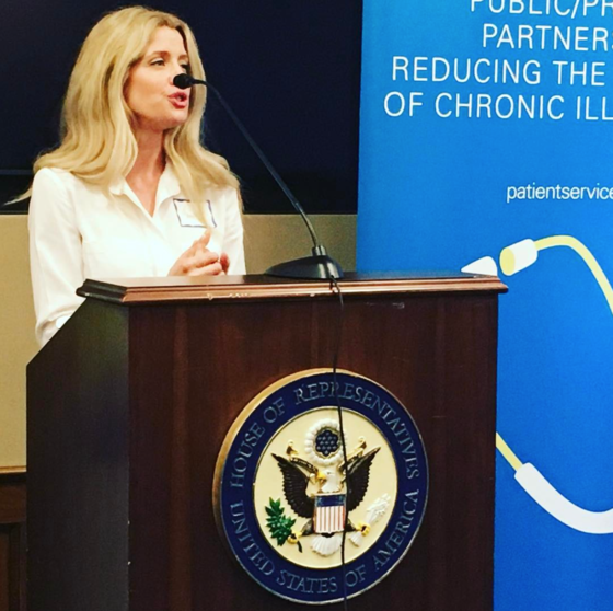 Cameron James Speaking at the Patient Services Inc. (PSI) Congressional Reception in Washington, D.C. after lobbying for Access to Marketplace Insurance Act