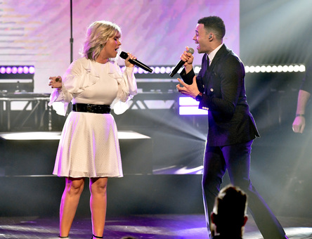 Natalie Grant and Tauren Wells. Credit: Getty Images for K-LOVE