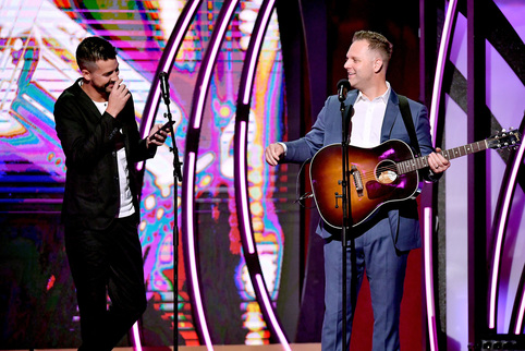 John Crist and Matthew West. Credit: Getty Images for K-LOVE