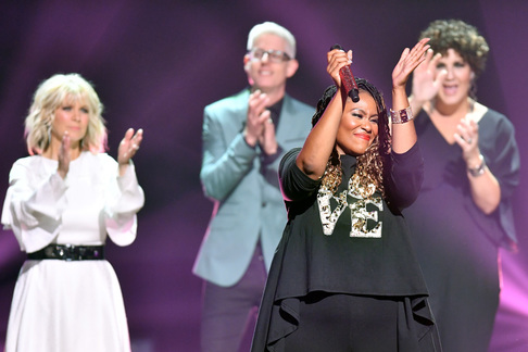 Natalie Grant, Matt Maher, Mandisa, Casting Crown's Megan Garrett. Credit: Getty Images for K-LOVE