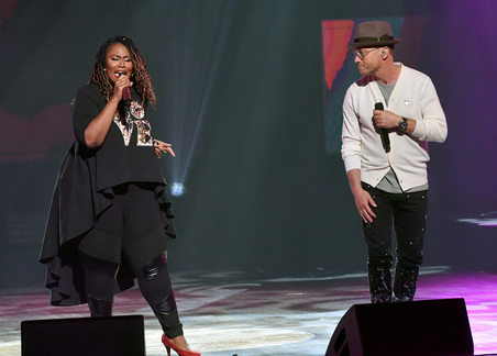 Mandisa and TobyMac. Credit: Getty Images for K-LOVE