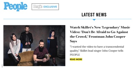 People Com Exclusively Premieres Music Video For Skillet S Hit