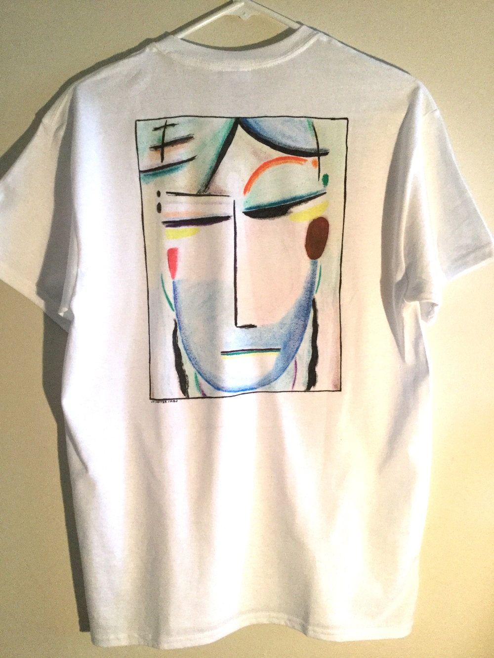This is a completely original shirt I made by special request, not available in my Galleries. (From a painting by Jawlenski.)