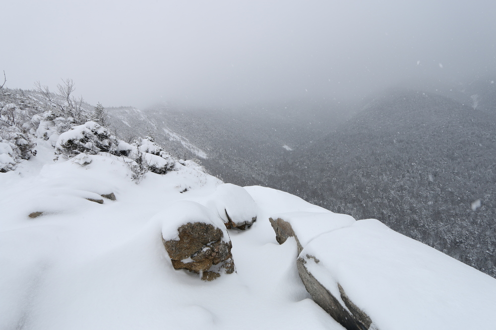 mt. lafayette in snowstorm [franconia notch, nh]