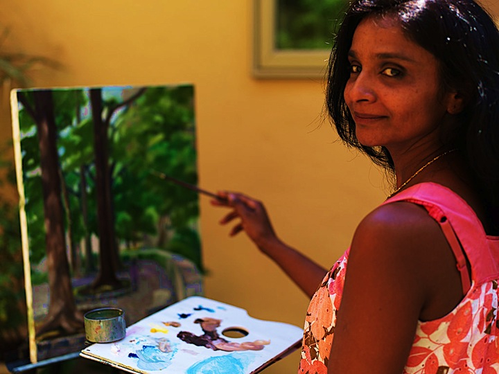 Bhavisha in her studio at Ageless Gardens