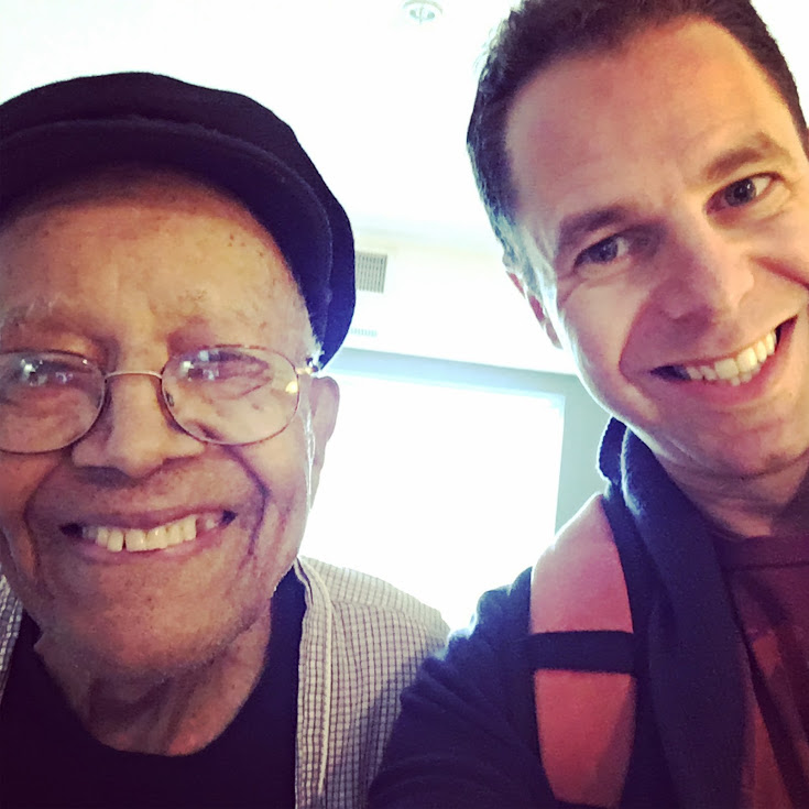 Me and Irv Williams, 98 year old jazz saxophonist.