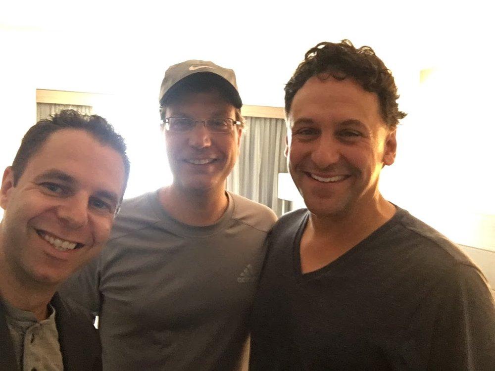 Me with Milwaukee jazz musicians Mark Davis and Jeff Hamann.