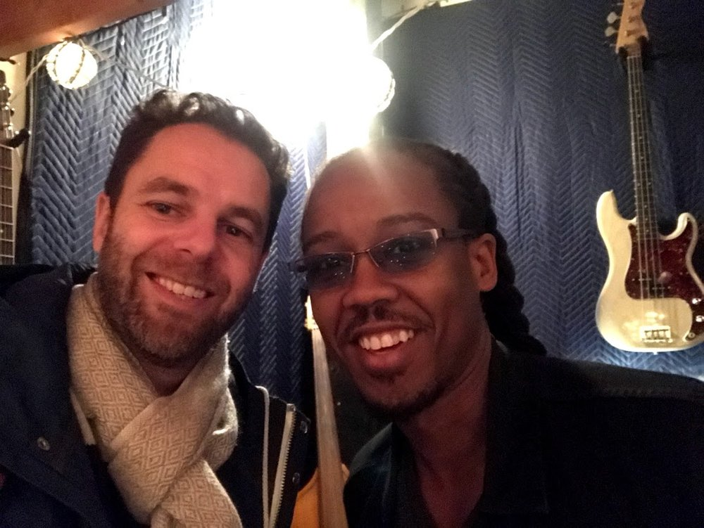 with Louis Cato in Brooklyn, February 2018