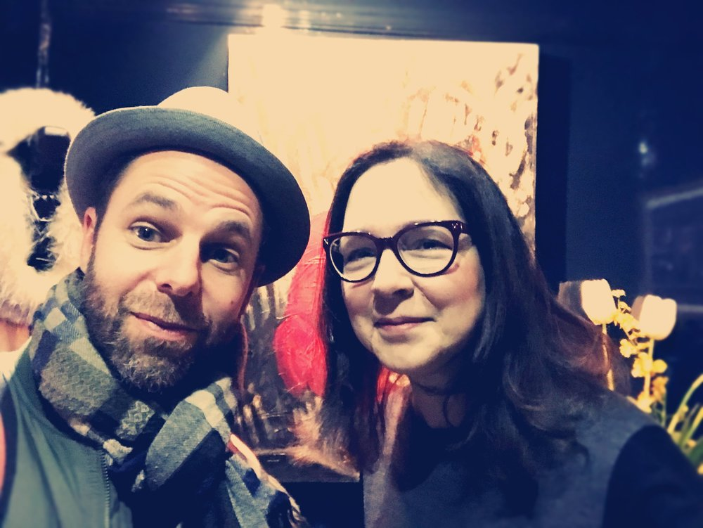 With Lorrie Moore, NY, March 2018