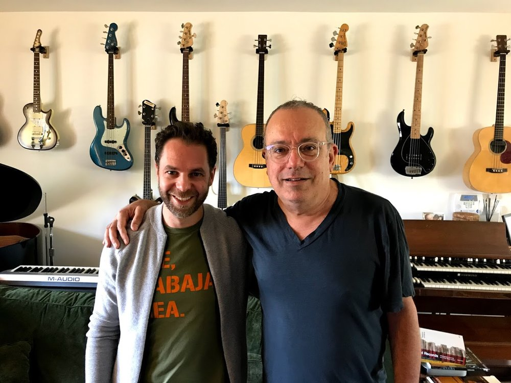 With Larry Klein, Los Angeles, April 2018