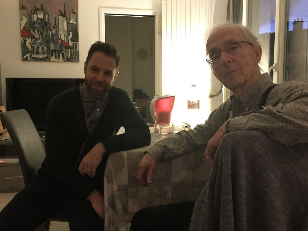 With Howard Becker, Paris, November 2017