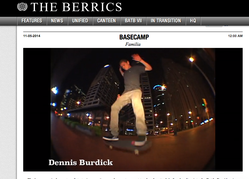 DBONG SKATES OUTSIDE OF FAMILIA HQ ON THE BERRICS!!!?!