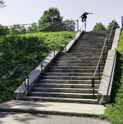 Oh word? He ollied into that and then road down it, huh? Photo: via Zoo York.