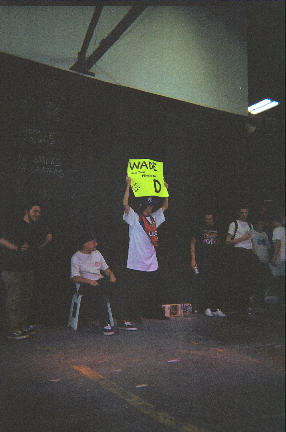 Wade DesArmo's biggest fan came dressed as Wade to support him in the World Championship of Flatground Skateboarding