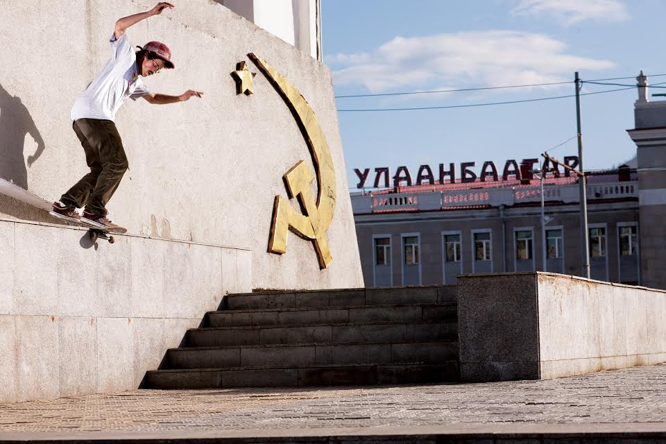 JACK SABBACK ~ ULAANBAATAR, MONGOLIA Trick:Backside lipside.Photo by Jonathan Mehring.