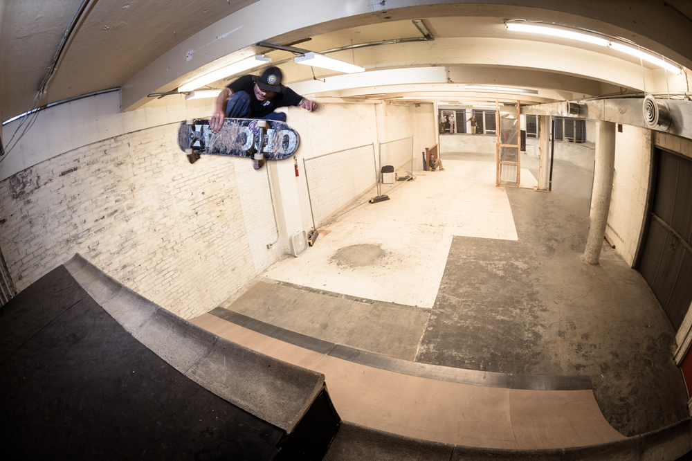 By all means, start a DIY indoor spot. Just make sure there's enough room for guys like Emmett Bleiler to do fronstide airs.  Photo: Rob Collins