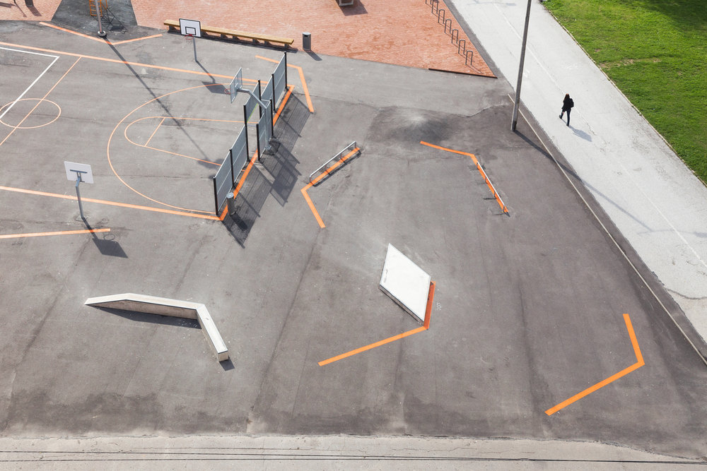 We could use more of this in the US – public space that encourages skateboarding.