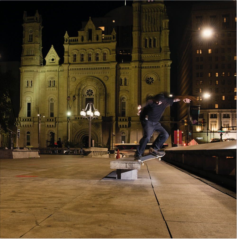 In case you haven't heard, Brian is back. Nollie 180 to switch krook. Photo:  Blabac .