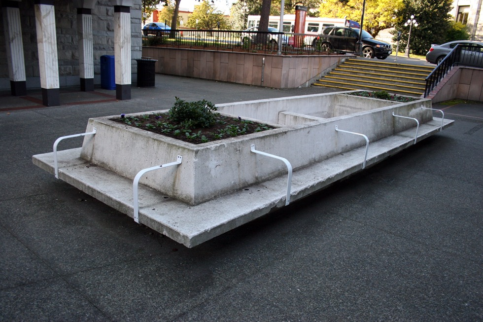 Skate stoppers. Victoria, British Columbia, Canada.
