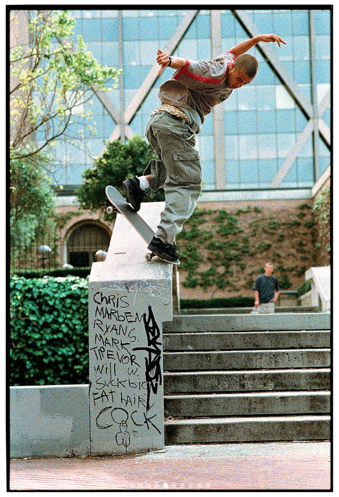 Eric Koston, backside noseblunt slide. 1998.