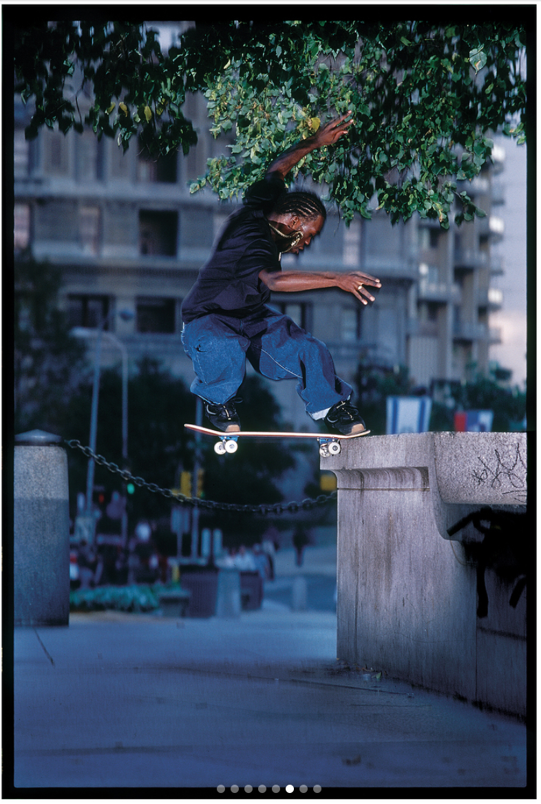 Stevie Williams, switch frontside noseslide. 2000.