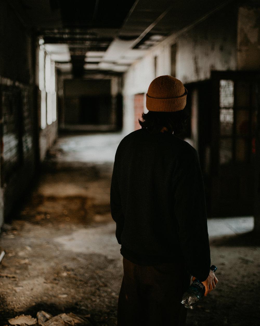 Matt Boeltel in abandoned building. Birmingham, AL.
