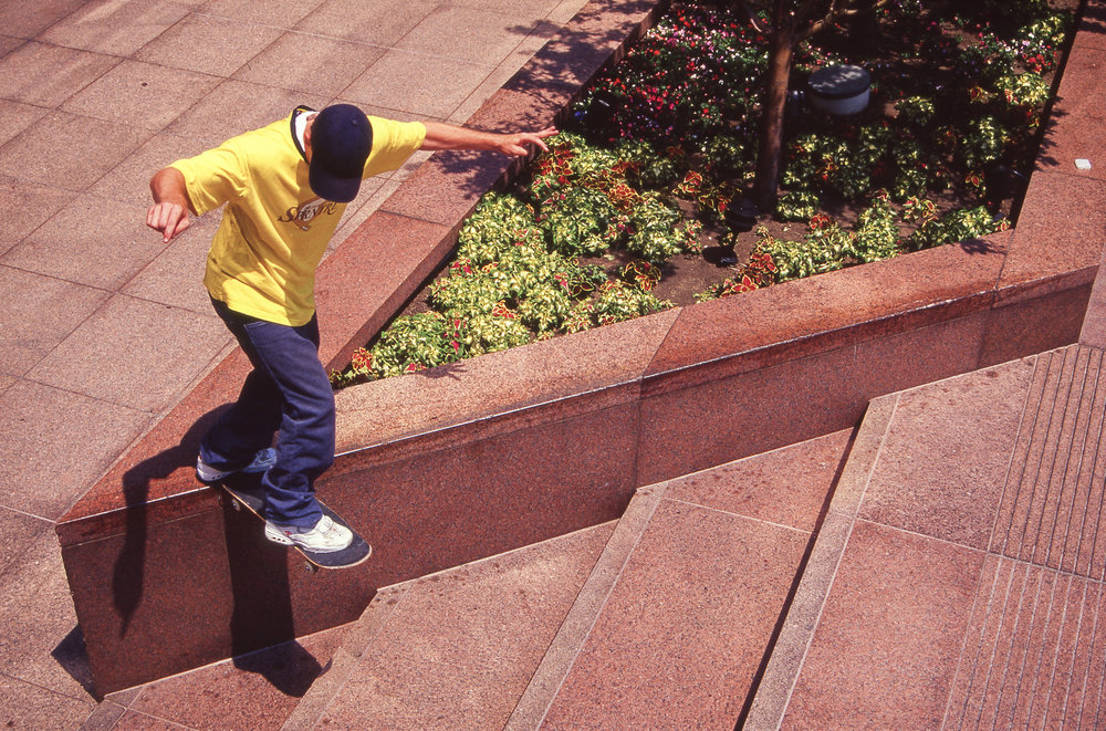 Another Chad Benson backside tailslide, in a another pair of white Kalis's.