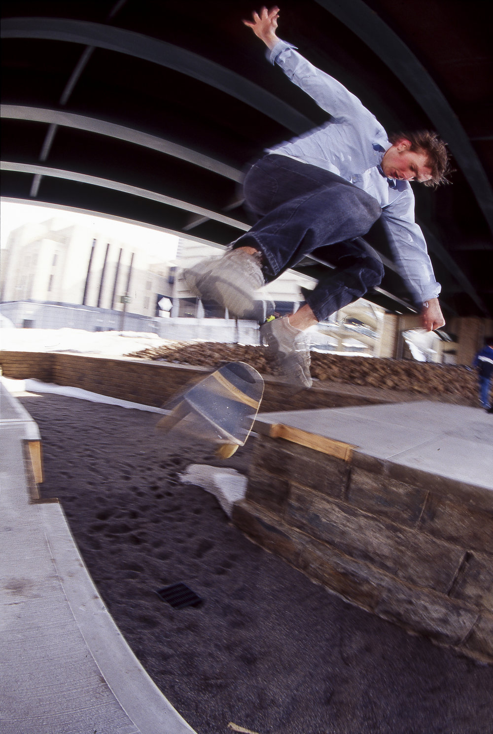 Ben Ragsdale  is one of the smoothest skateboarders to ever come from Minnesota. Backside kickflip.