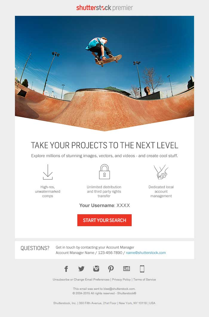 Email Campaigns — Eric Sams   Creative Direction + Design