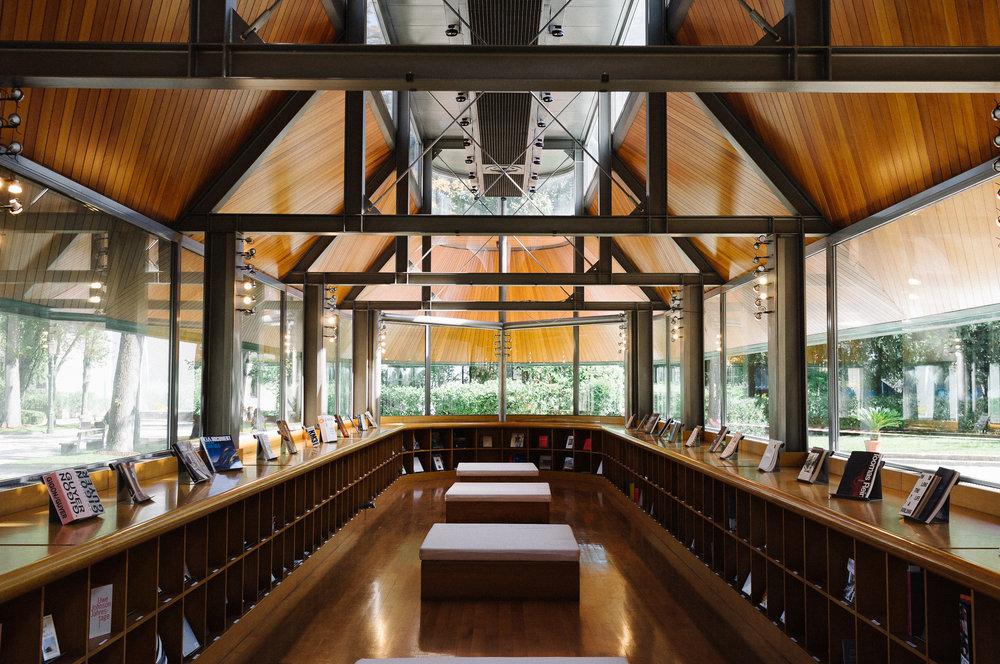 James Stirling Bookshop Pavilion
