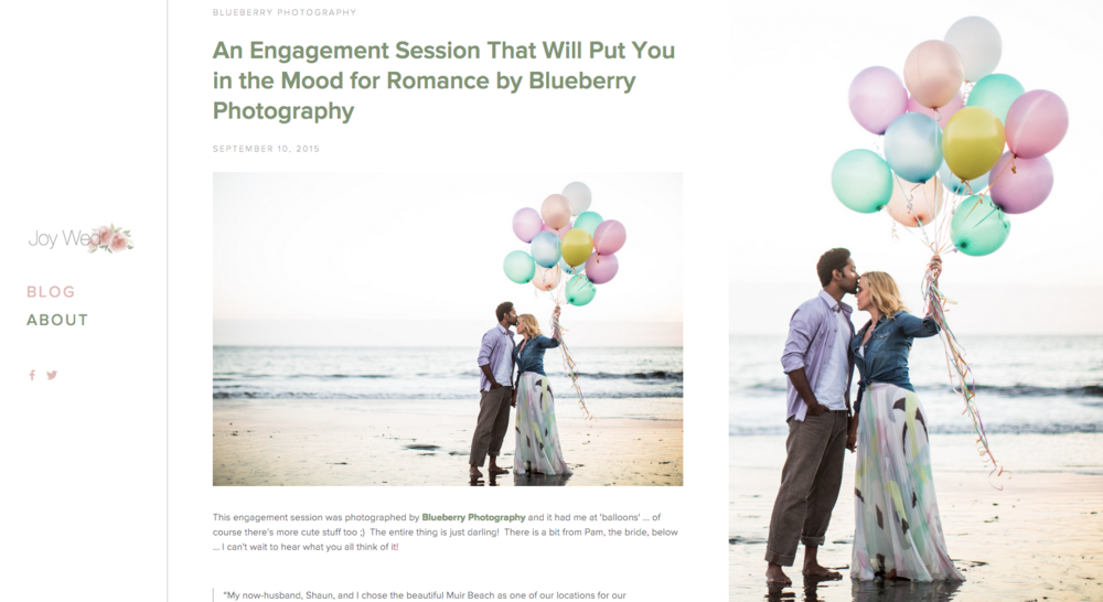 Featured on Joy Wed Blog | Blueberry Photography