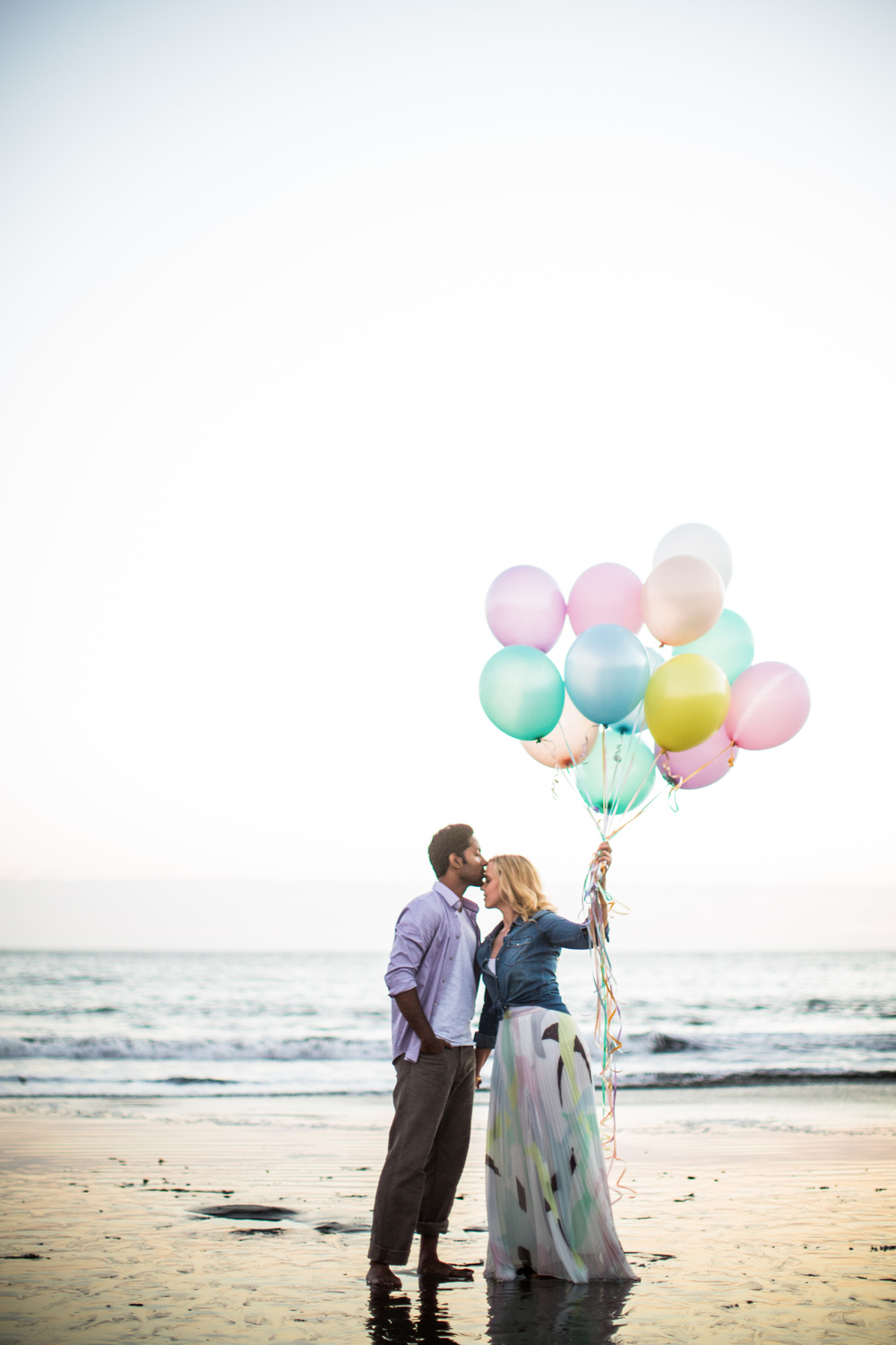 Engagement Session with Balloons | Blueberry Photography