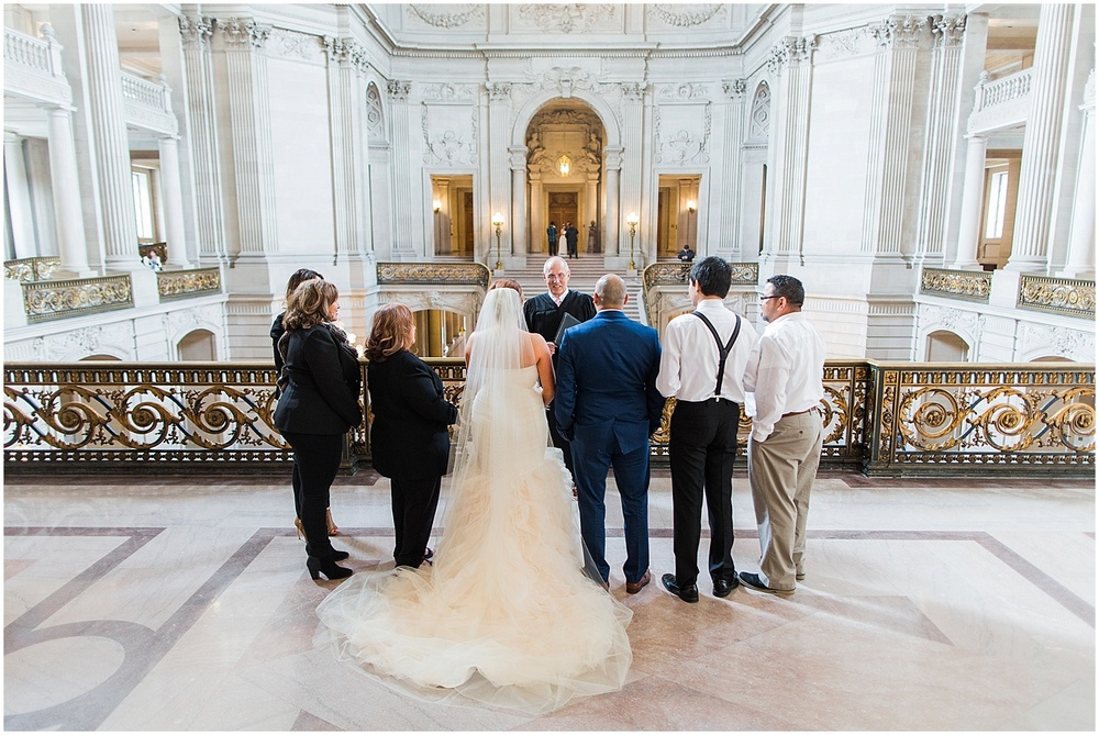 Blueberryphotography.com | San Francisco City Hall Elopement | SF City Hall Wedding| Mayors Balcony