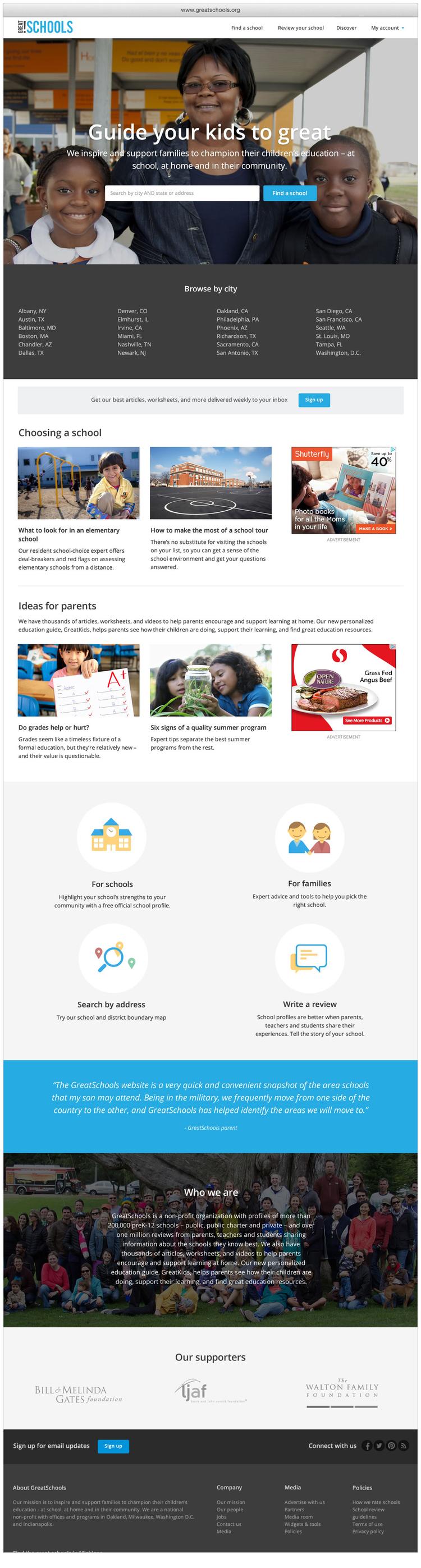Worksheet Grade Schools.org greatschools org redesign stephen lowe gs template homepage jpg