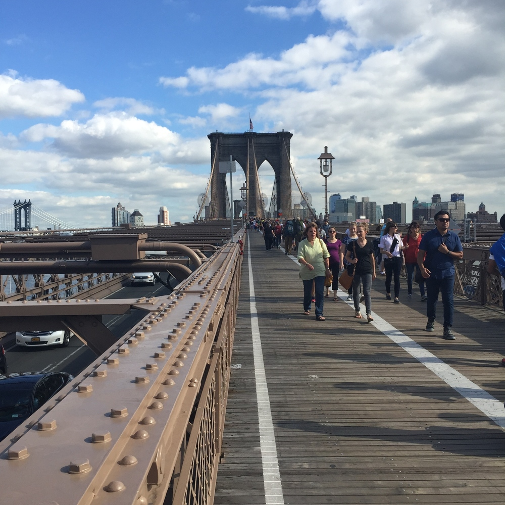 Walking the Brooklyn Bridge!