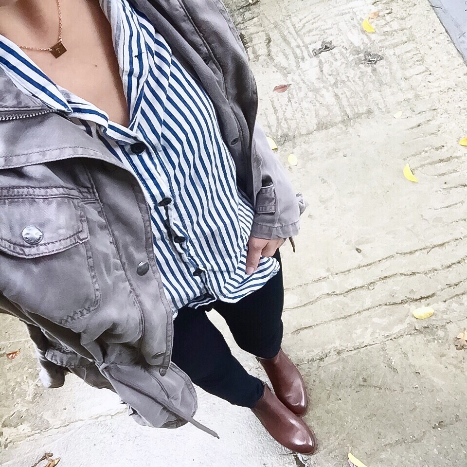 This is the perfect striped button down from SheIn and it's a steal at under $13 !!