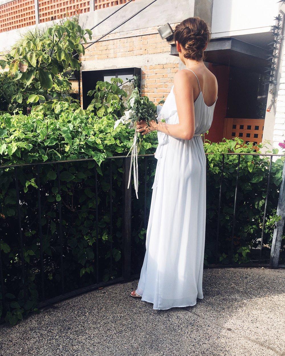 Nouvelle Amsale Ruffle Front Bridesmaid