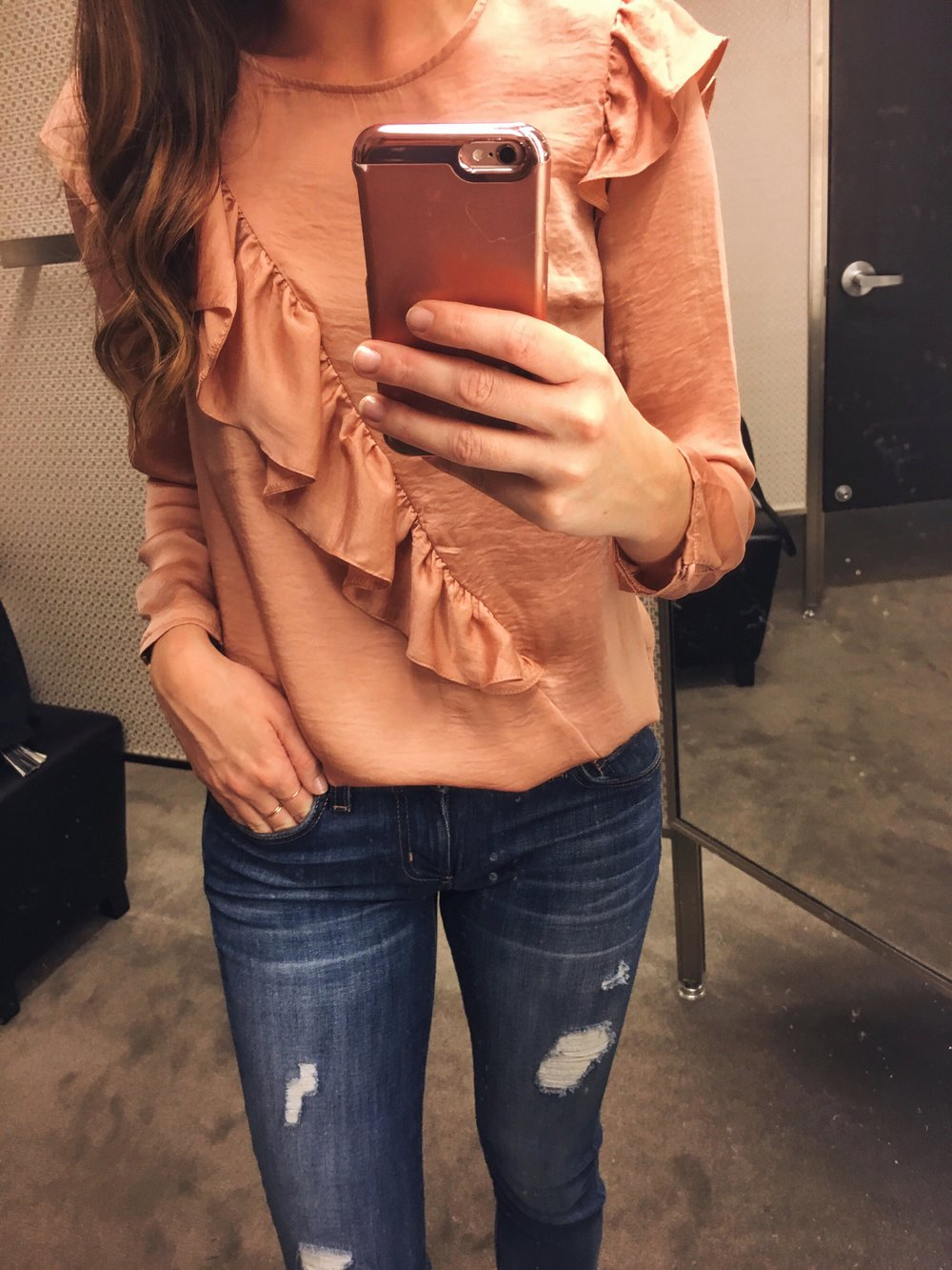 Black Friday Sale Items:  Topshop top .  Current/Elliott jeans .