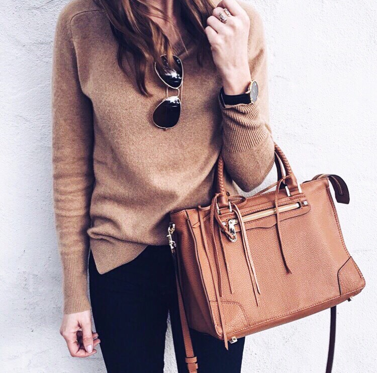 Black Friday Sale Items:  Cashmere sweater . Rebecca Minkoff bag  here  and  here .  Ray-Ban's .