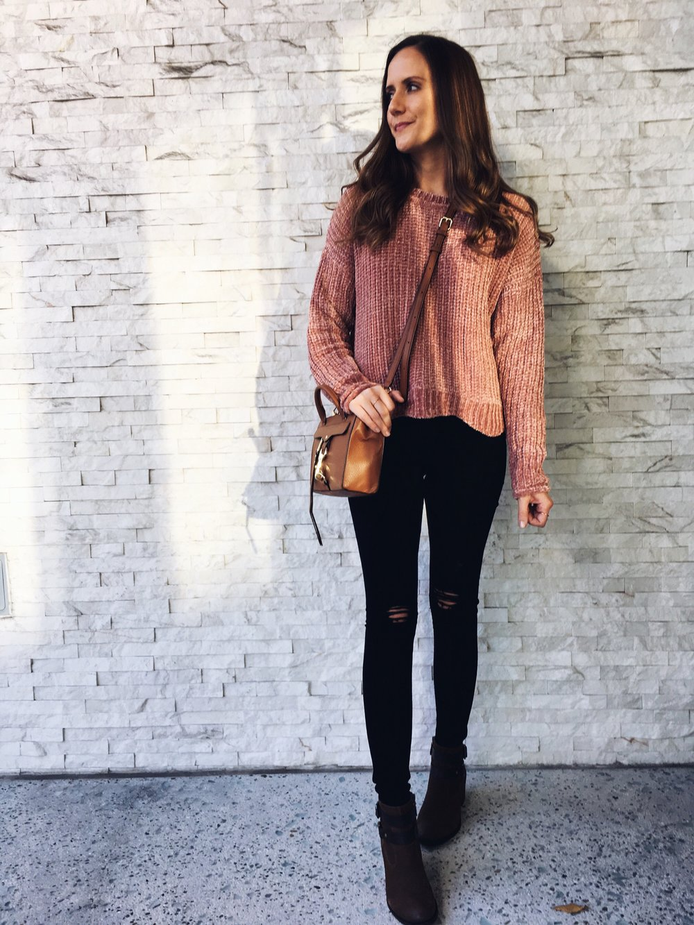 Blush Pink Chenille Sweater — Girl Meets Gold