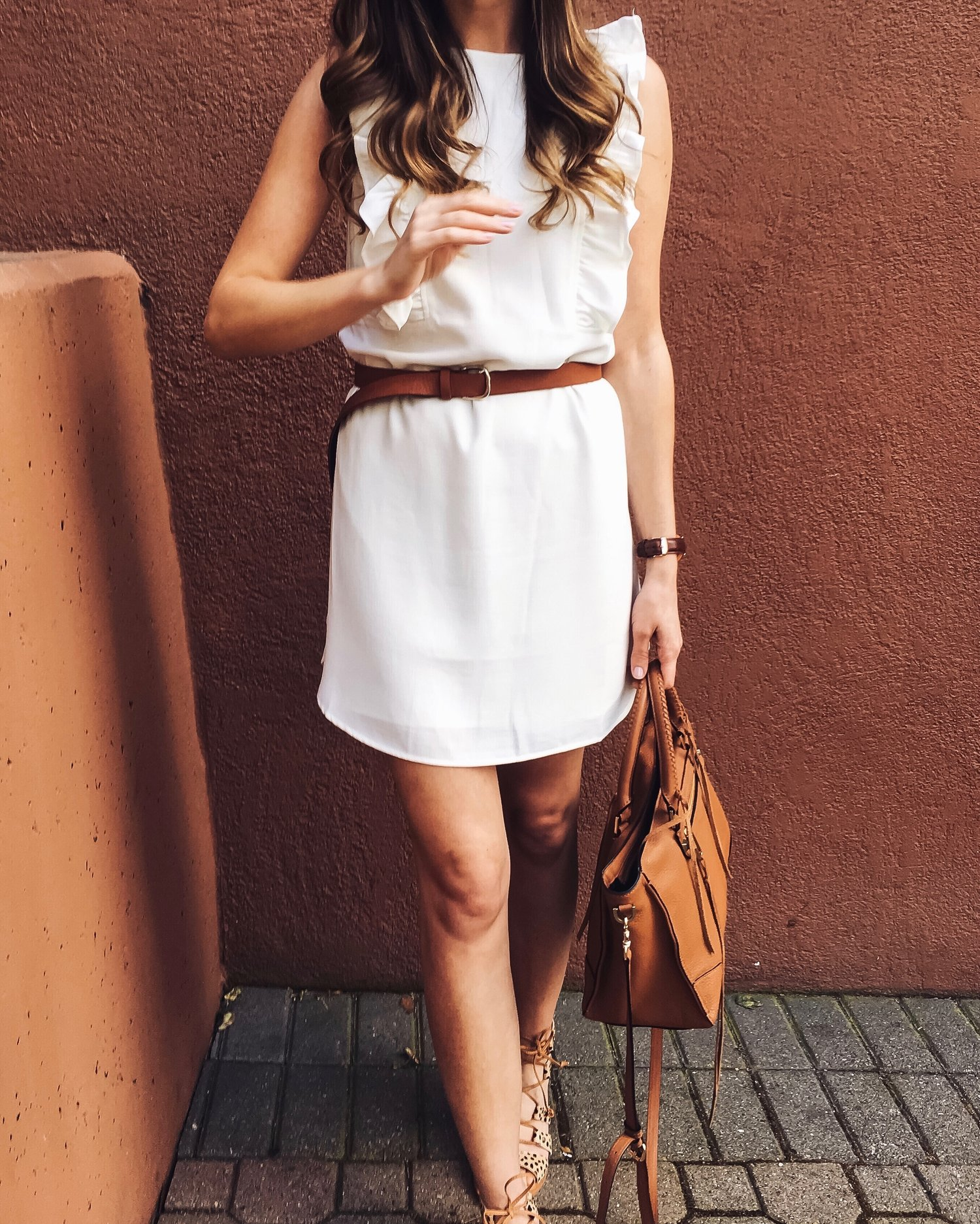 c78e05a18a45e Little White Dress and Leopard Gladiator Sandals — Girl Meets Gold