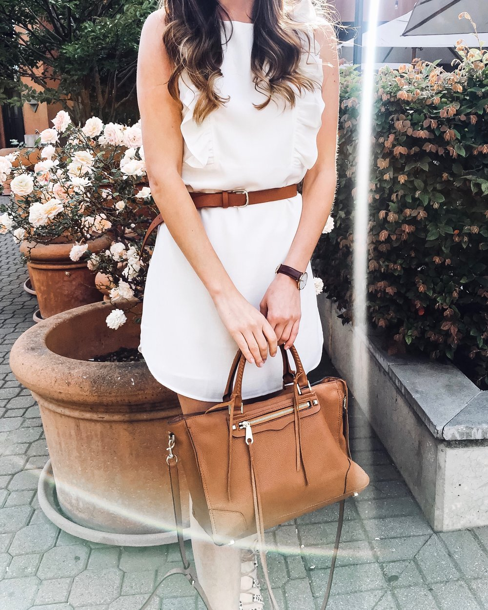 Rebecca Minkoff Regan Satchel Almond